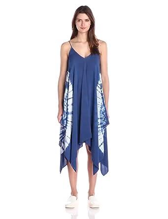 Maxi Dress: Blu PepperWomens Woven Tie Dyed Handkerchief Dress