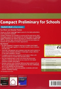 Livres Couvertures de Compact Preliminary for Schools Student's Book without Answers with CD-ROM