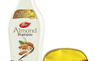 Dabur Almond Shampoo, 350ml with Free Gold Pouch
