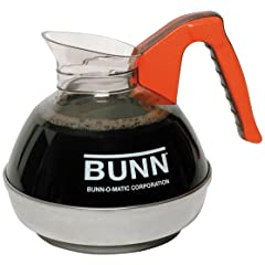 BUNN 6101 Easy Pour Commercial 12-Cup Decaf Coffee Decanter, Orange