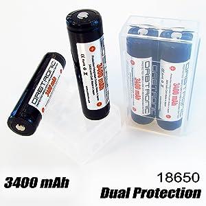 ORBTRONIC 18650 battery