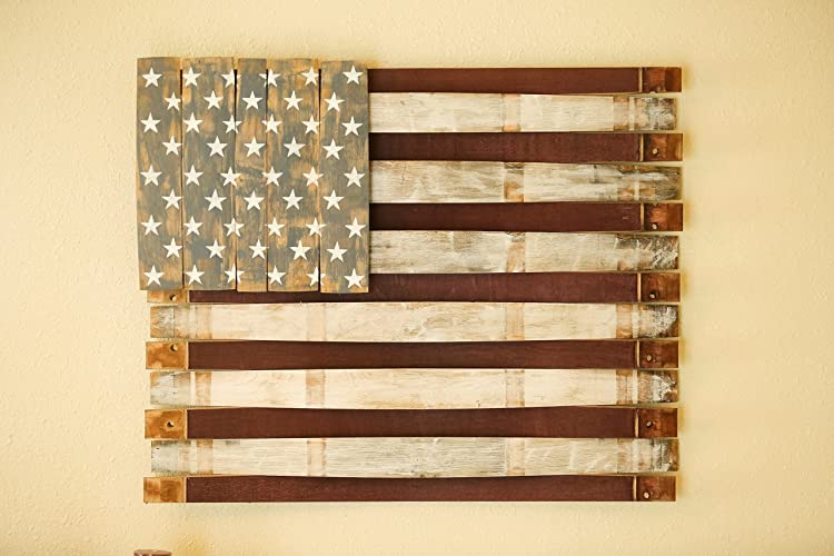 Wine Barrel American Flag