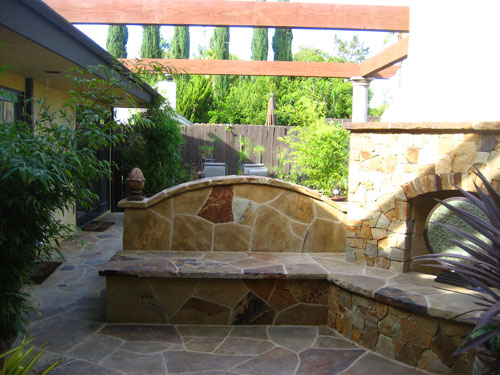Built In Patio Seating. Fireplace Seating 2