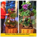 "Shirley Bovshow's ""Living Spice Rack"" that spins and is portable."