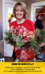 cristina-ferrare-floral-arrangement-hydrangeas at Home and Family show set.