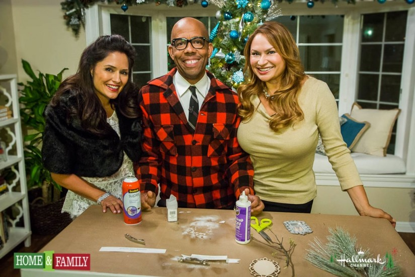 Designers Tanya Memme, Kenneth Wingard and Shirley Bovshow of Home and Family Show, Hallmark Holiday special show