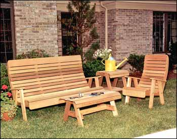 Western Red Cedar Patio Furniture