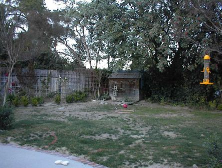 before left side of yard