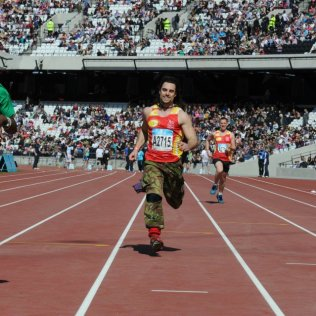 Running in the Olympic Stadium, 2012