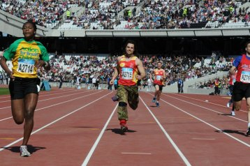 Running in the Olympic Stadium, 2012