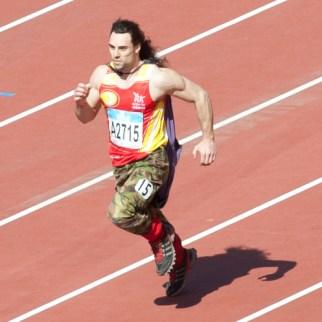 Running in the London 2012 Olympic Stadium
