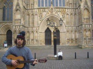 Busking in York, 2007