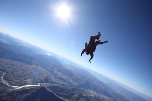 Upside down and 15,000 ft up