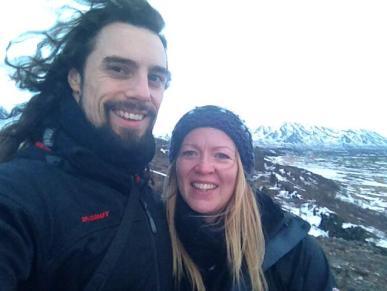 With Vikki in Iceland.