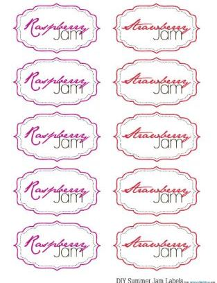 Jam favors with free printable labels find the labels here at the
