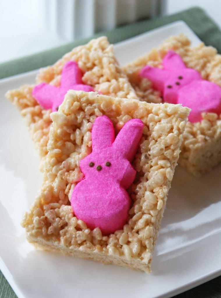 Peeps Bunny Rice Krispies Treats – Edible Crafts