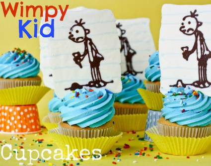 Wimpy kid cupcakes edible crafts for Diary of a wimpy kid crafts