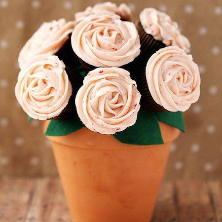 Homemade Cupcake Bouquets