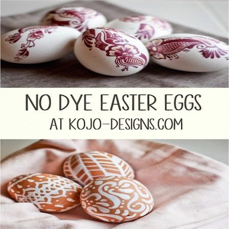 No Dye Easter Eggs