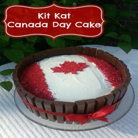 Kit Kat Canada Day Cake Recipe