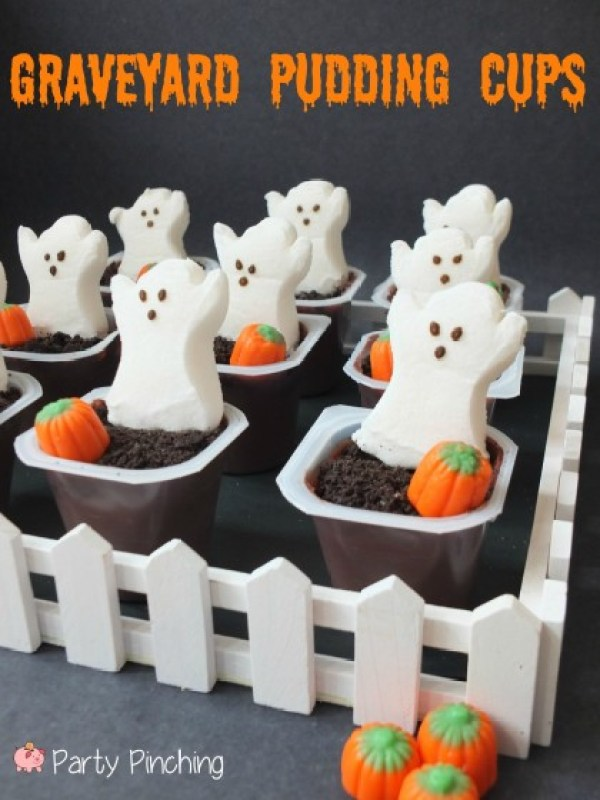 Graveyard Pudding Cups - Party Pinching
