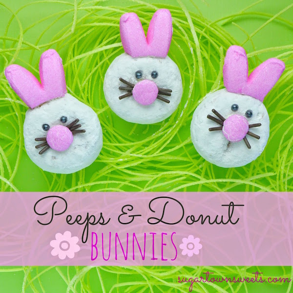 peeps and donut bunnies from sugartown sweets