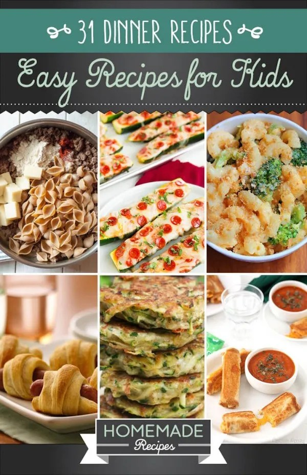 31 easy recipes kids can make edible crafts for Good quick meals to make for dinner