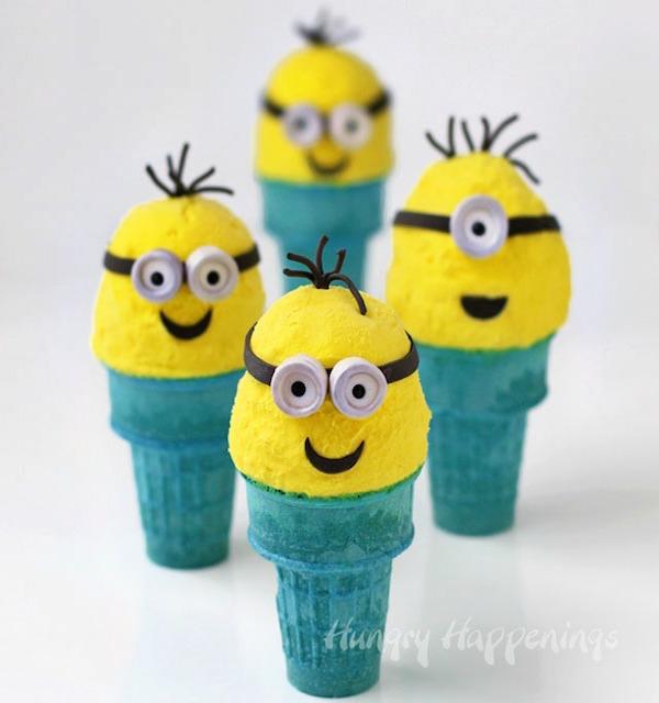 banana-ice-cream-cone-minions-edible-crafts