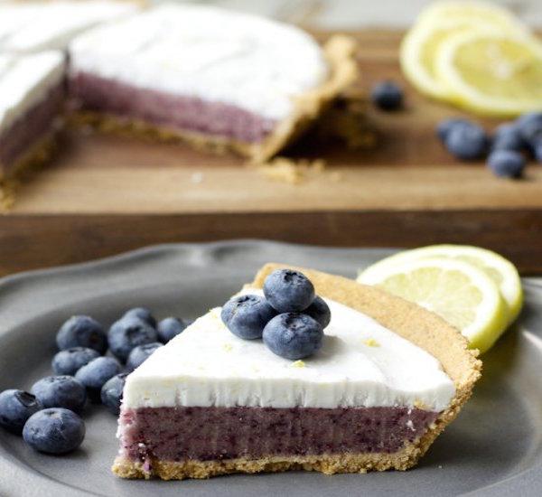 blueberry lemon ice cream pie