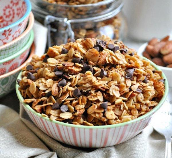 slow cooker salted caramel granola