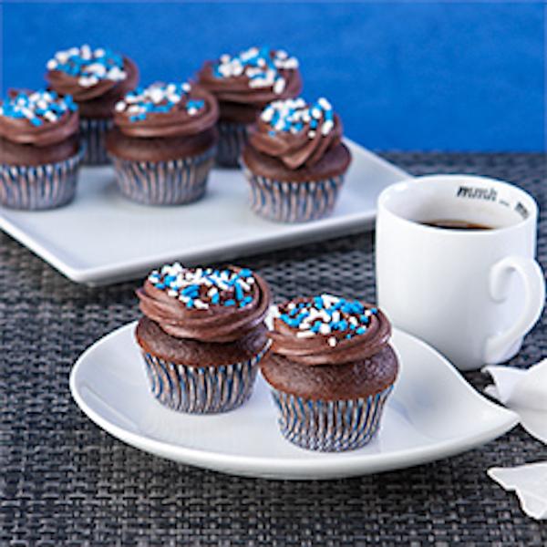 chocolate hanukkah cupcake bites