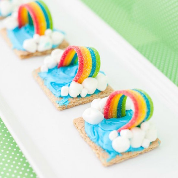 graham cracker rainbow weather snack