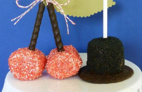 Marshmallow Pops for Presidents' Day