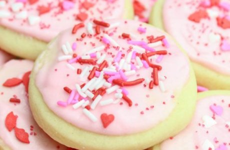 Valentine's Day Soft Sugar Cookies
