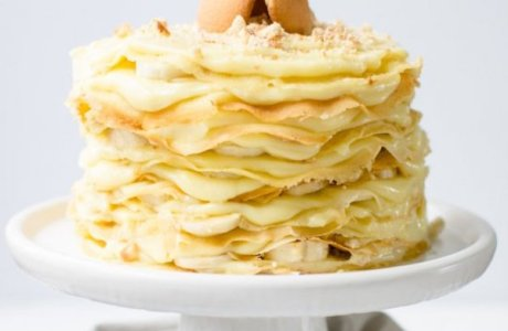 12 Layer Banana Pudding Crepe Cake