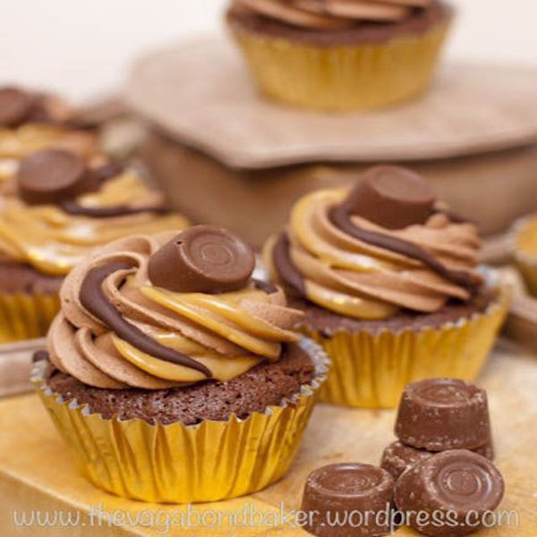 rolo Brownie cupcakes
