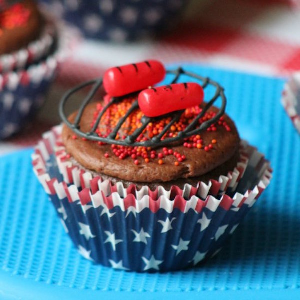 bbq cupcake