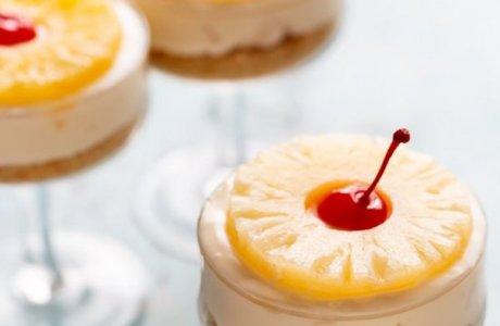 No Bake Pineapple Cheesecakes