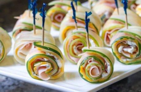 Cucumber Ham Rollups
