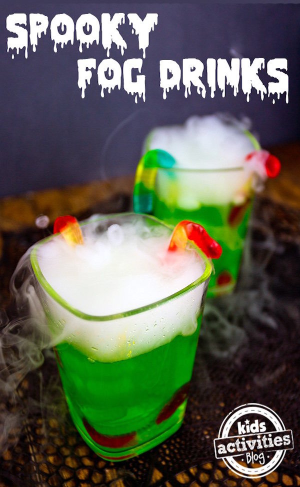 Spooky fog drinks edible crafts for Craft cocktails near me