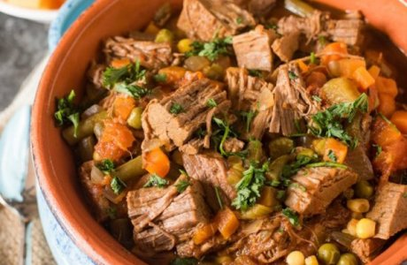 Slow Cooker Vegetable Soup (Made with Roast Beef)