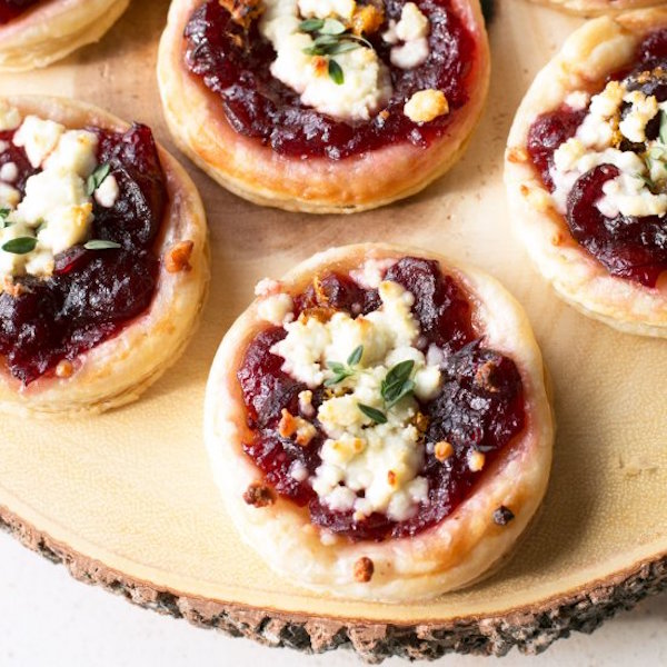 Cranberry Goat Cheese Tarts – Edible Crafts
