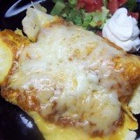 Chicken Enchiladas with Iron Grilled Cornmeal Tortillas