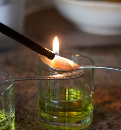 Thirsty Thursdays:  Absinthe on fire