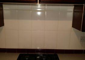 Kitchen Wall Tile Before Refresh in Edinburgh