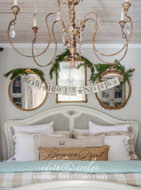 A Touch of Christmas in the Master Bedroom | Edith & Evelyn Vintage | www.edithandevelynvintage.com