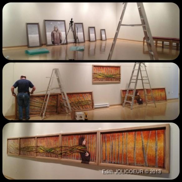 Montage expo PAYSAGES & SAISONS CHARNIÈRES | Musée Miguasha