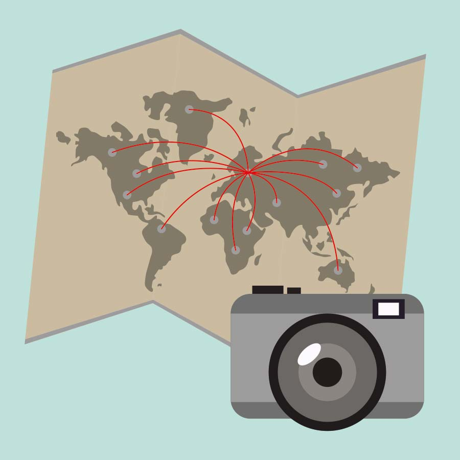 Welcher Fotograf befindet sich an welchem Ort? In einer virtuellen Karte auf Blink.la lässt es sich anzeigen.