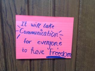 Here, many people gave their thoughts on the topic of 'freedom'.