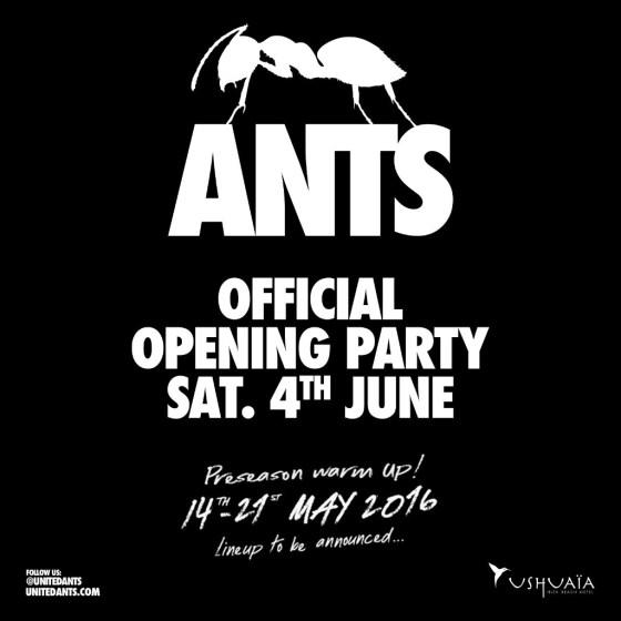 ANTS opening party ushuaïa EDMred